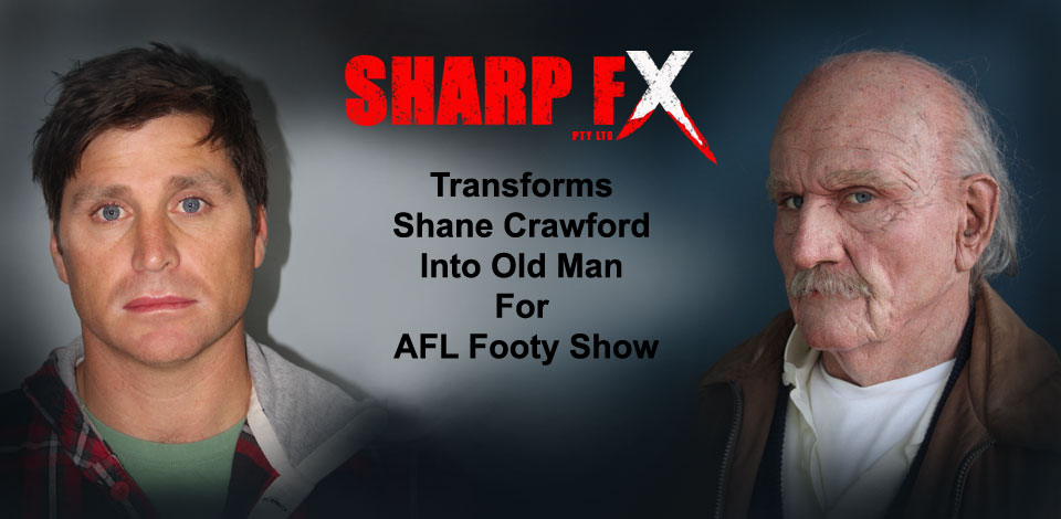 Sharp FX Creates Old Man Crawf Prosthetic Makeup